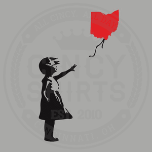 Banksy Ohio Balloon Girl - Cincy Shirts