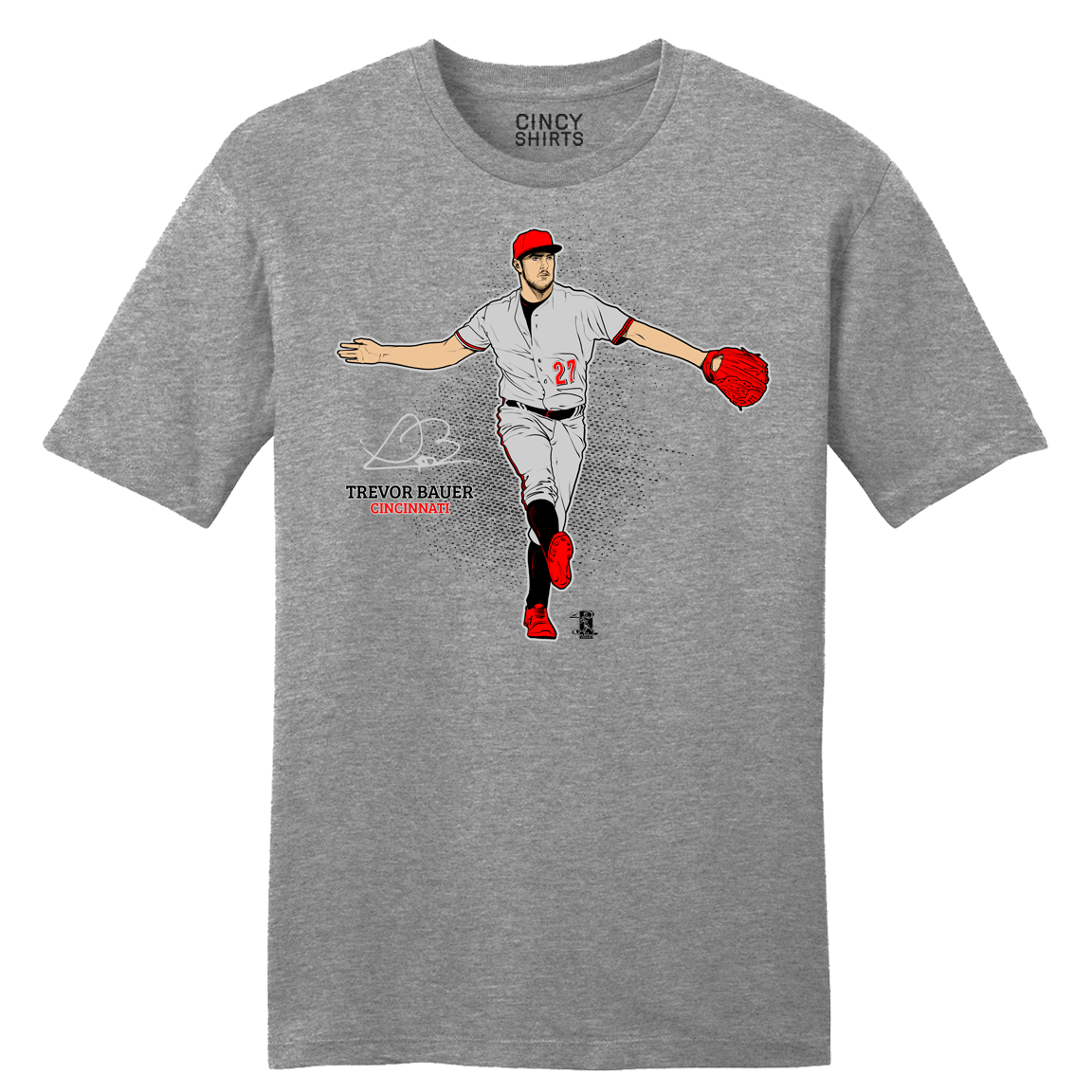 Official Trevor Bauer Strut MLBPA Tee - Cincy Shirts