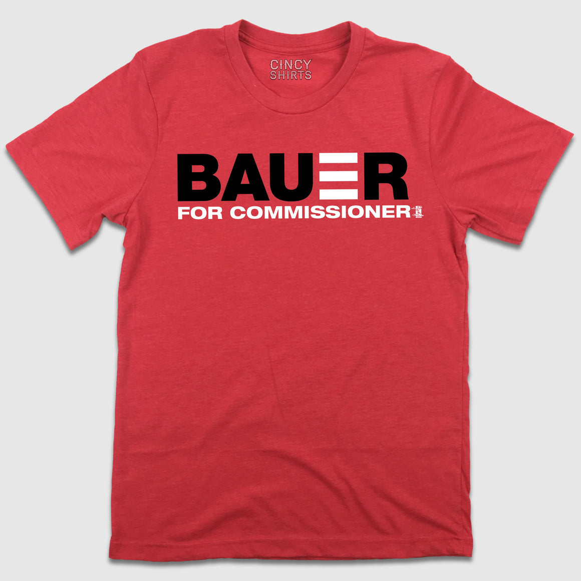 Bauer For Commissioner - Heather Red T-shirt