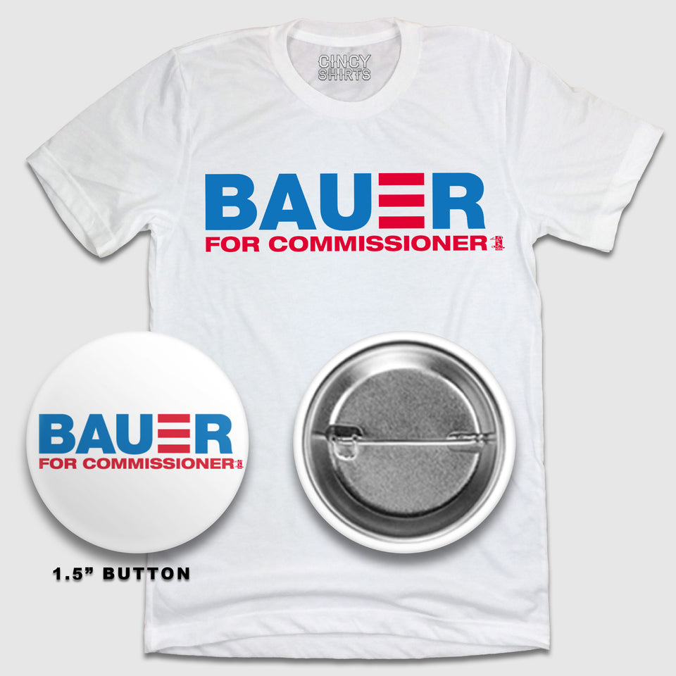 Bauer For Commissioner - White Tee & Raglan Garments