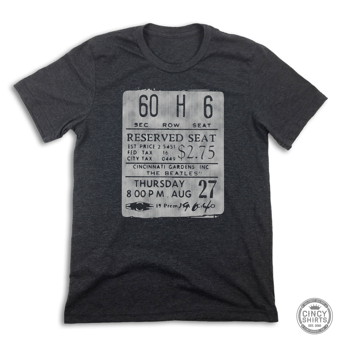 The Cincinnati Gardens Ticket Stub - Cincy Shirts