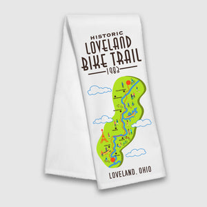Loveland Bike Trail Tea Towel - Cincy Shirts