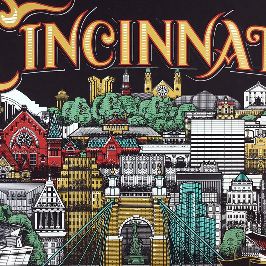 Cincinnati Since 1788 - James Billiter Limited Edition Print - Cincy Shirts