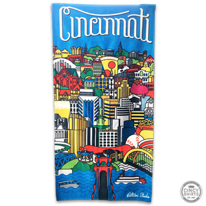 Billiter Cincinnati Scene Beach Towel
