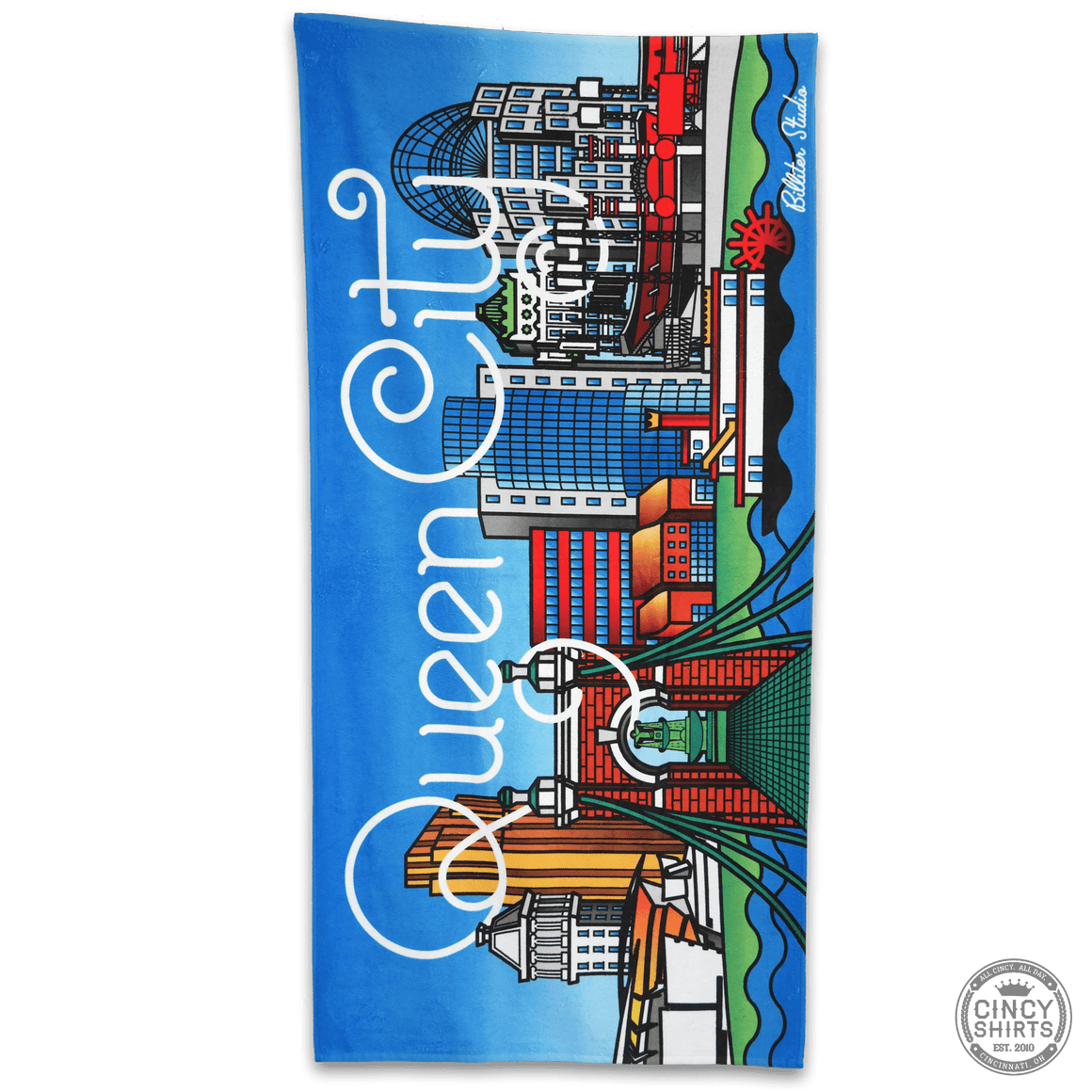 Billiter Queen City Scene Beach Towel