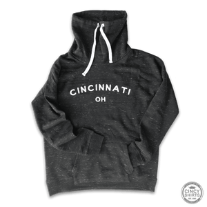 Cincinnati, OH Women's Cowl Neck Sweatshirt - Cincy Shirts