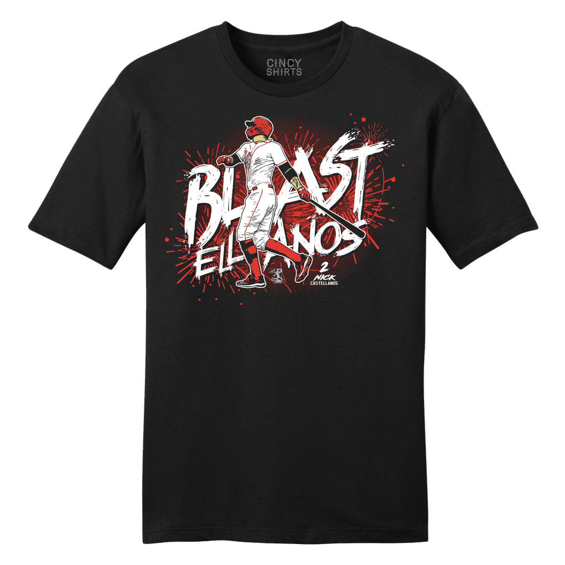 "Official Nick Castellanos ""Blastellanos"" MLBPA T-shirt - Cincy Shirts"