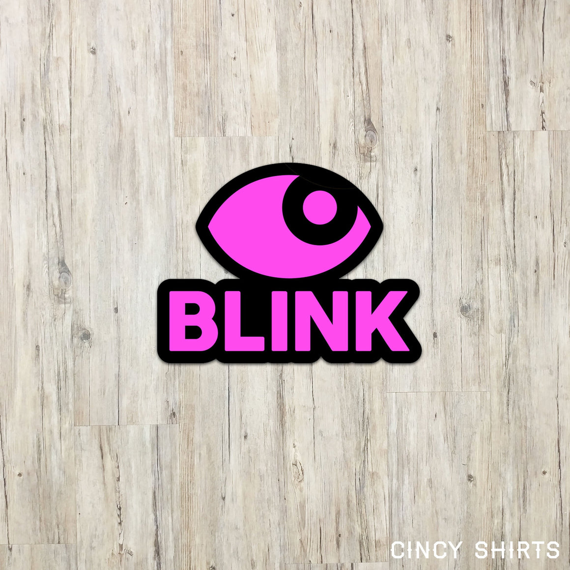 BLINK Sticker | Black Outline T-shirt