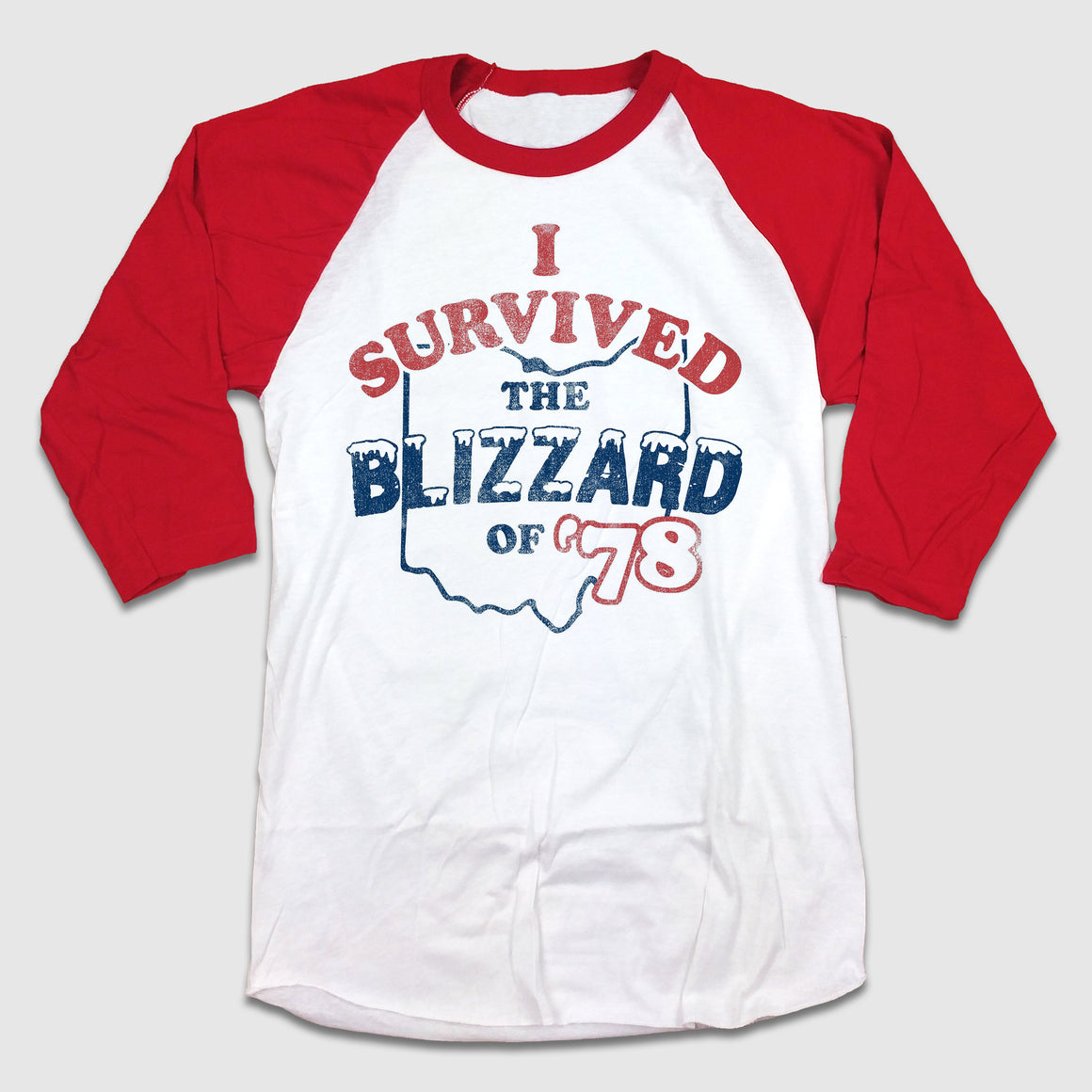 Blizzard of 78 3/4 Raglan - Cincy Shirts