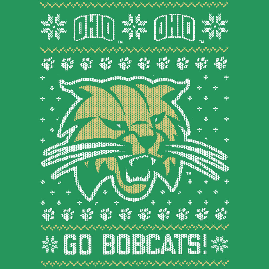 Ohio University Bobcats Ugly Christmas Sweatshirt
