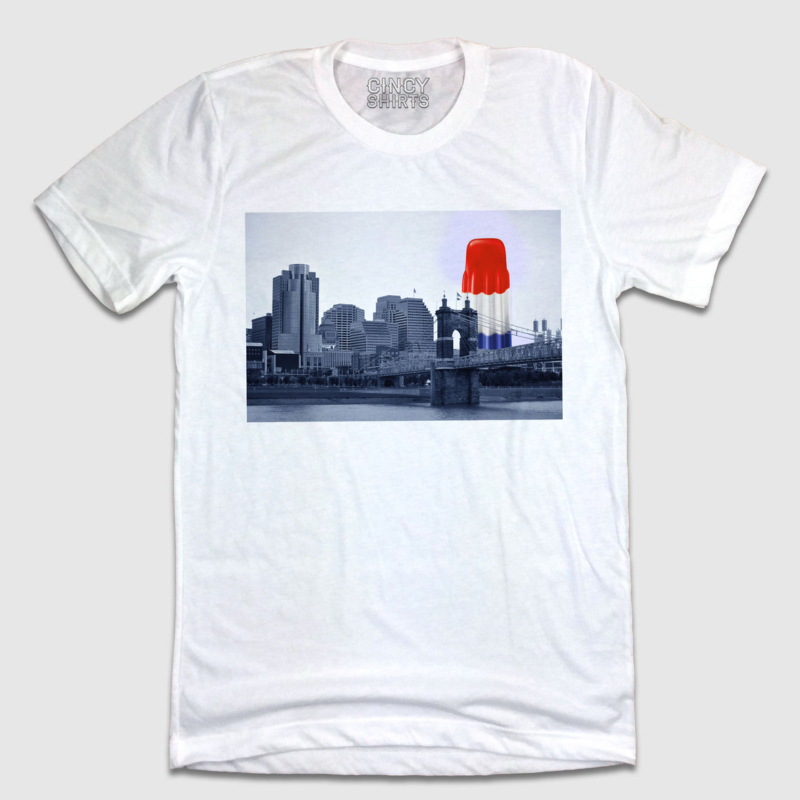 Firecracker Popsicle Cincy Skyline T-shirt
