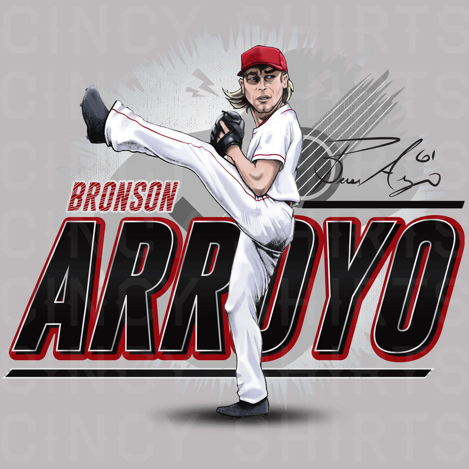 Bronson Arroyo - Hall of Heroes - Cincy Shirts