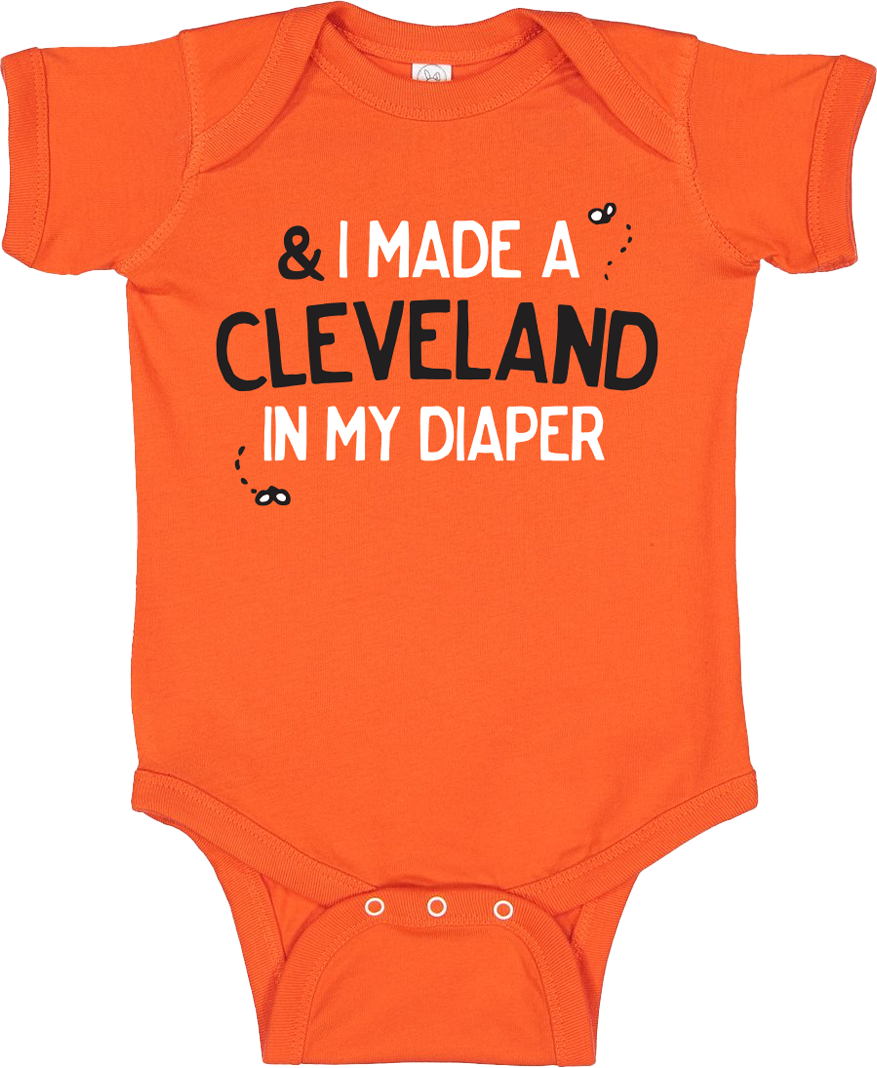 I Made a Cleveland in My Diaper Onesie