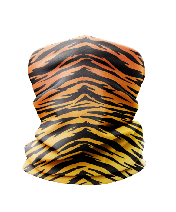 Tiger Stripe Neck Gaiter Mask