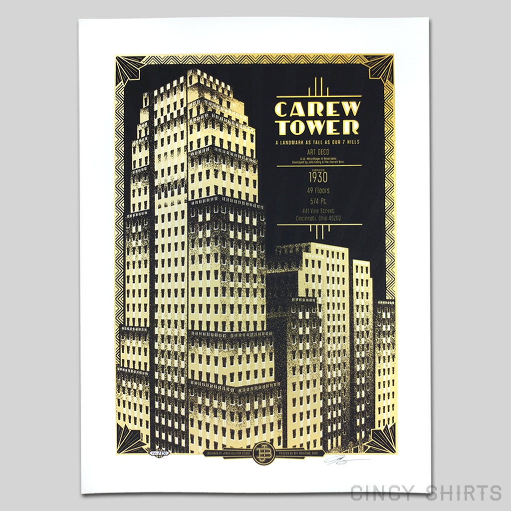 Carew Tower - Limited Edition Print close up