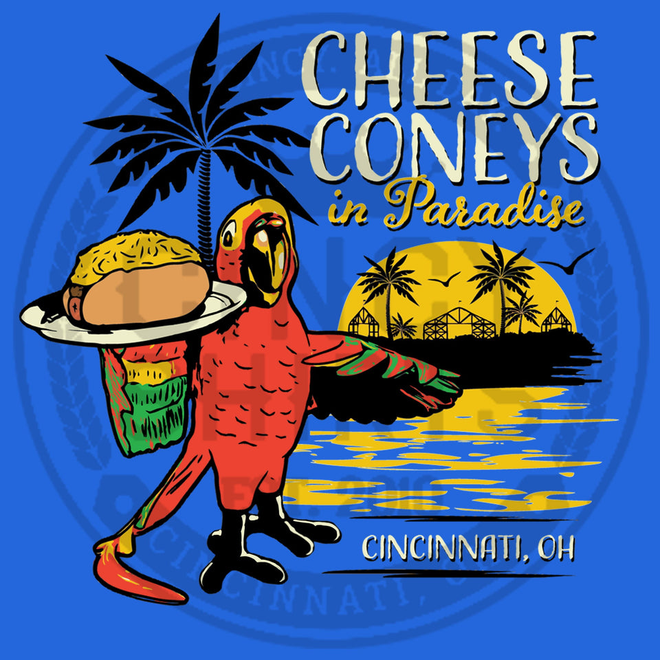 Cheese Coney In Paradise - Front Print Only - Cincy Shirts