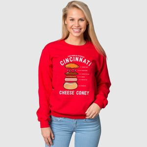 Anatomy of a Cheese Coney - Crewneck Sweatshirt