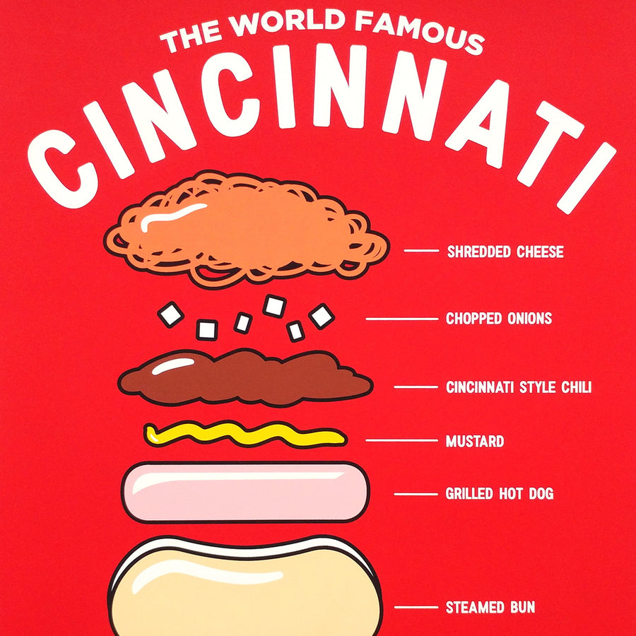 Anatomy of a Cheese Coney - Art Print - Cincy Shirts