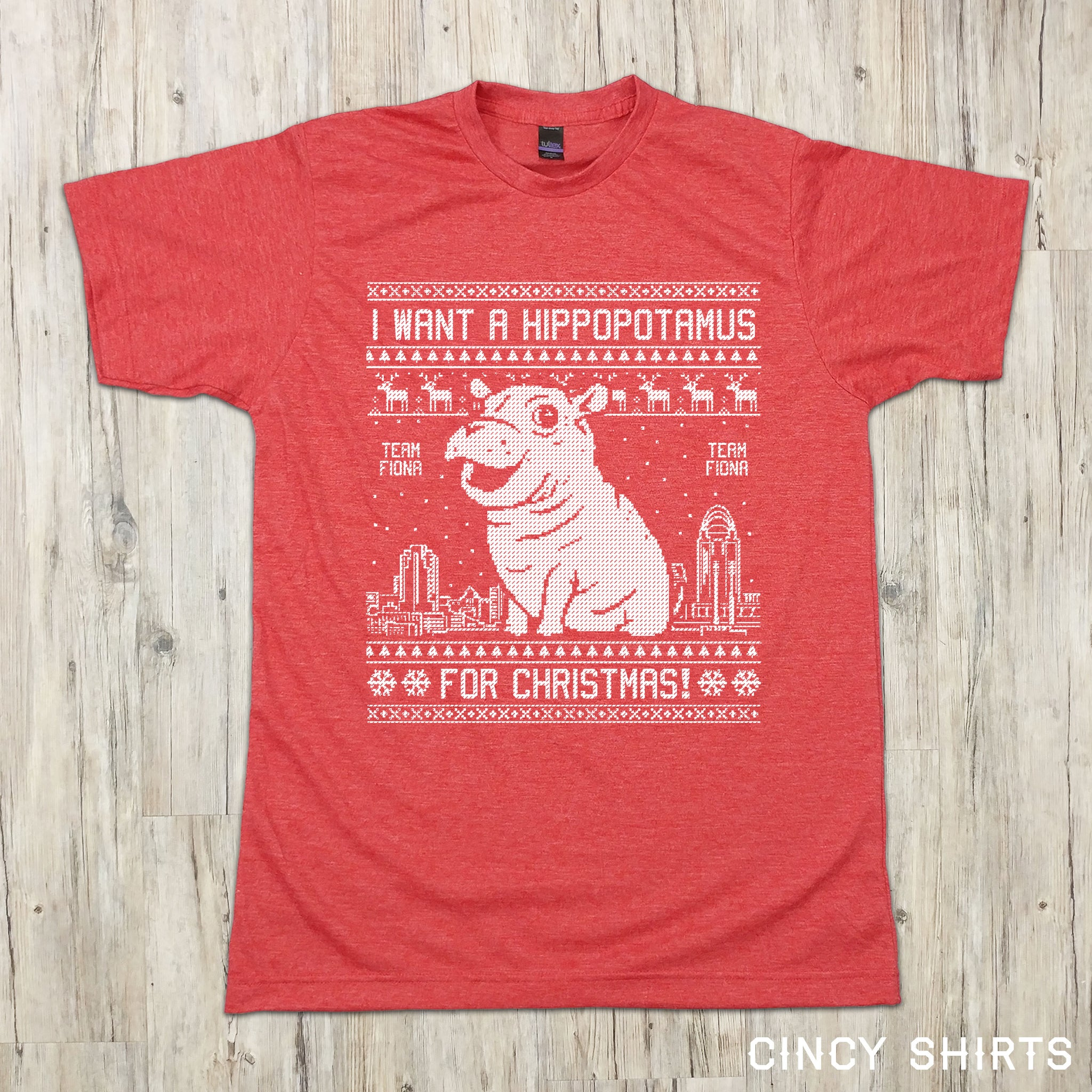 Fiona Christmas Tee | Team Fiona | Cincinnati Zoo | Cincy Shirts