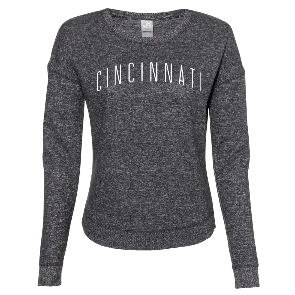 Cincinnati Ladies Cozy Crewneck Fleece - Cincy Shirts