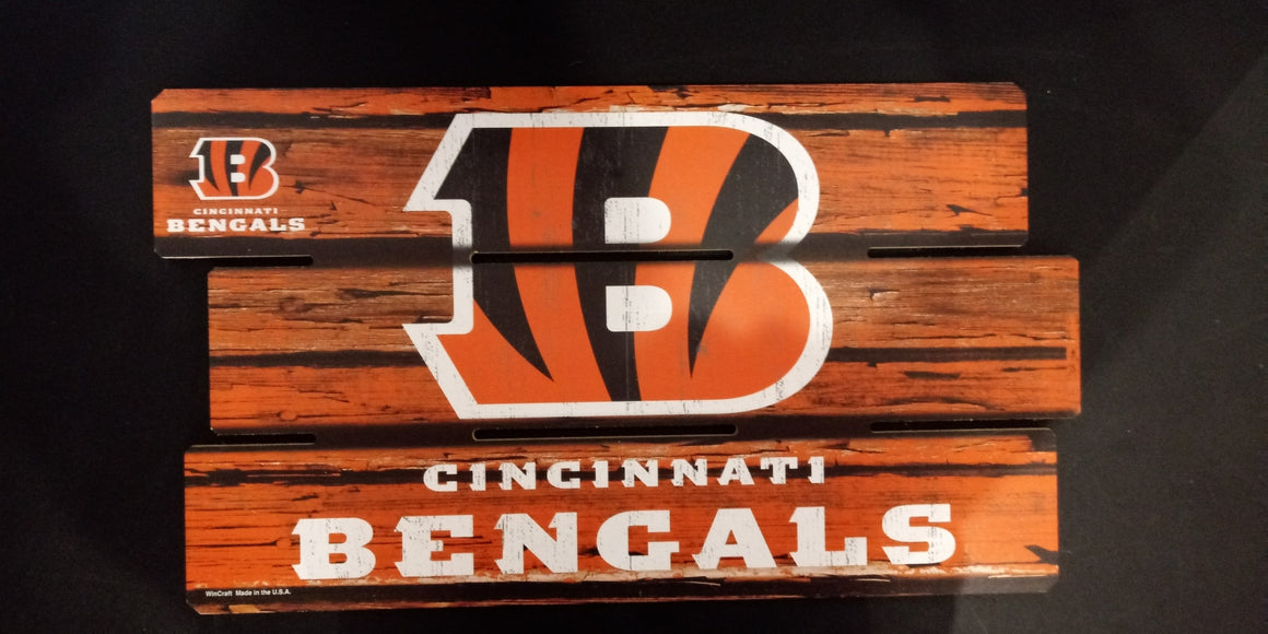 Cincinnati Bengals Wood Sign
