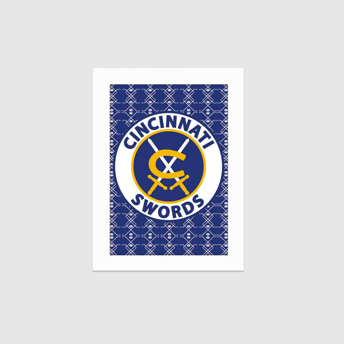 The Cincinnati Swords Logo Print