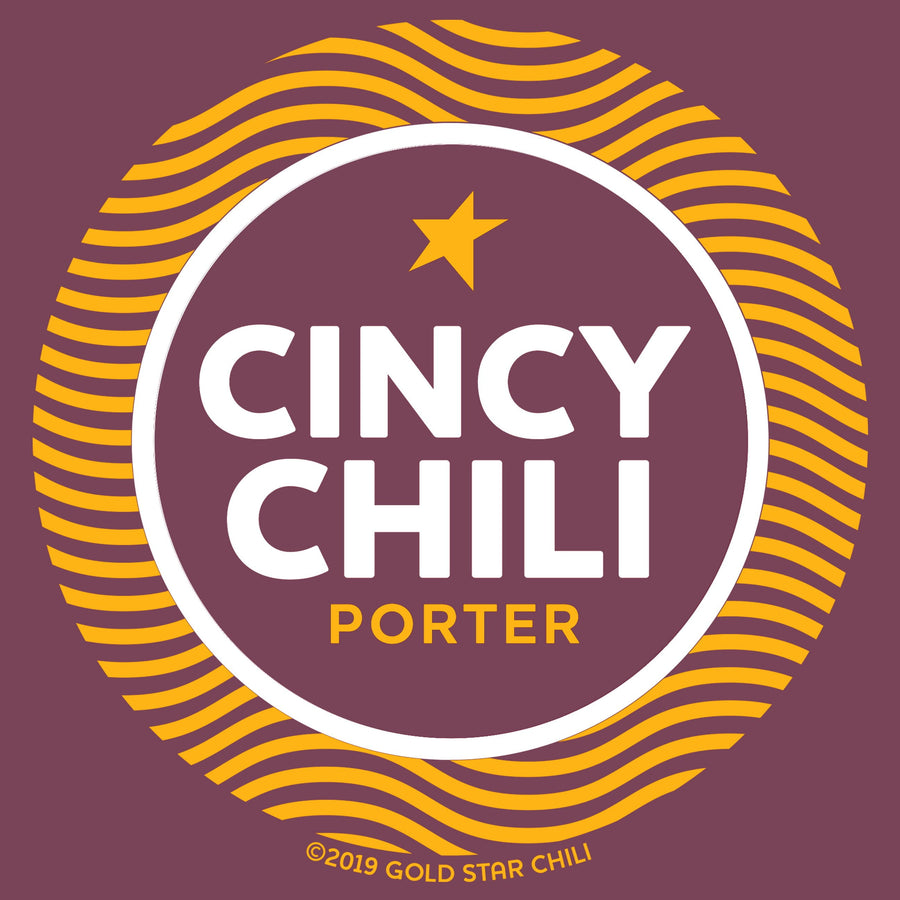 Cincy Chili Porter - Gold Star Chili Beer Tee - Cincy Shirts
