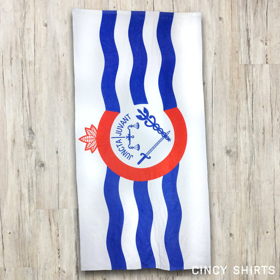 Cincy Flag - Beach Towel