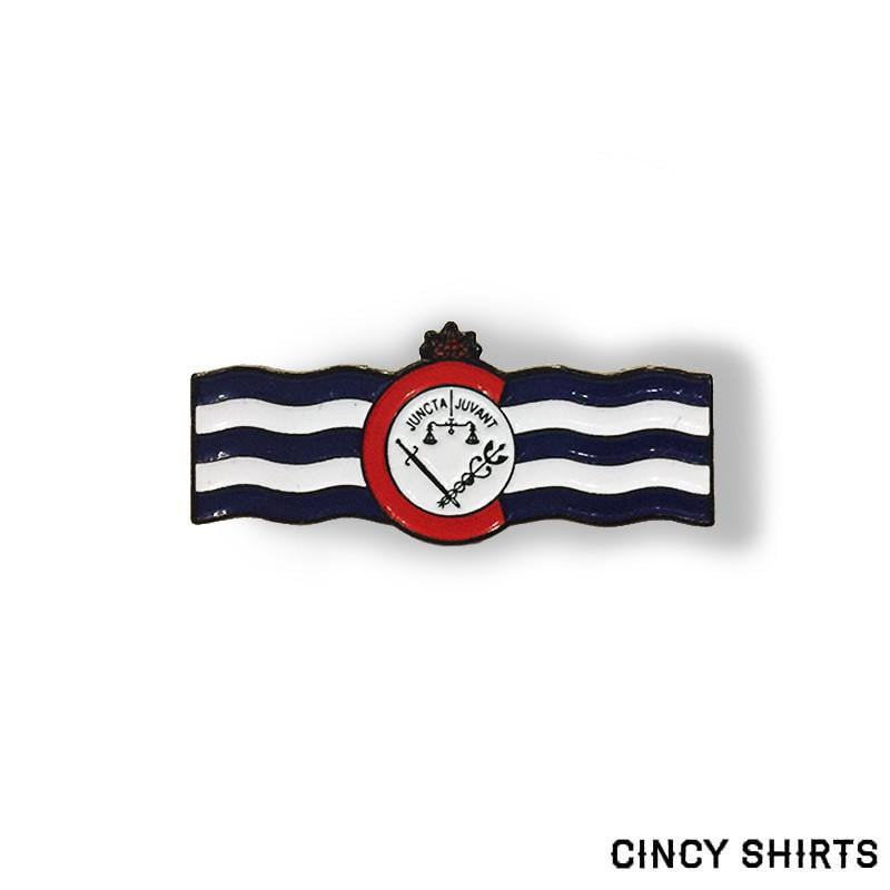 Cincy Flag Enamel Pin