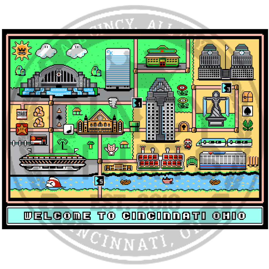 Super Cincy World Poster Print - Cincy Shirts