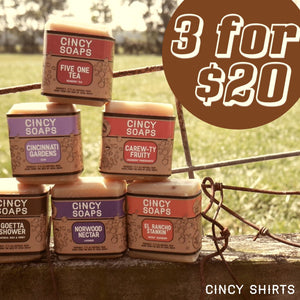 3 for $20 Cincy Soaps Mystery Bundle