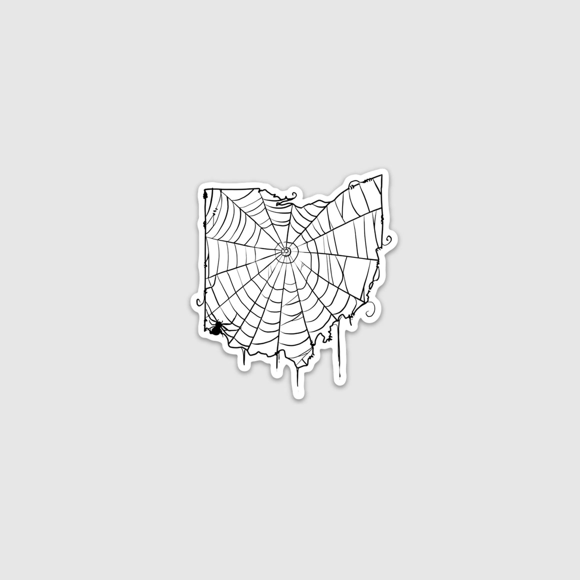 Cincinnati, Ohio Spiderweb Sticker - Cincy Shirts