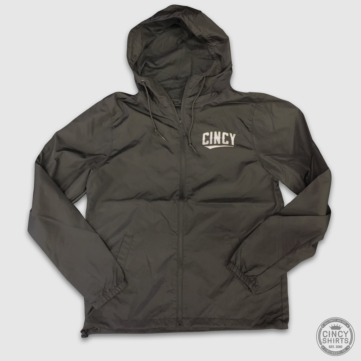 """CINCY"" Swoop Lightweight Windbreaker Jacket - Cincy Shirts"