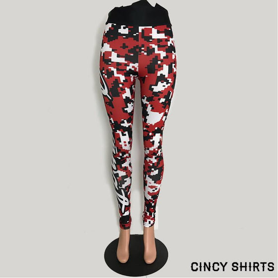 Cincy baseball digital Camo Women's Legging