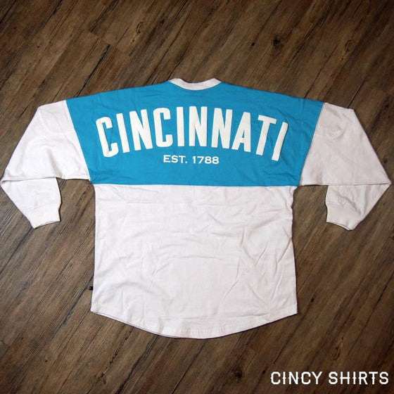 Cincinnati Aqua Pocket Spirit Jersey