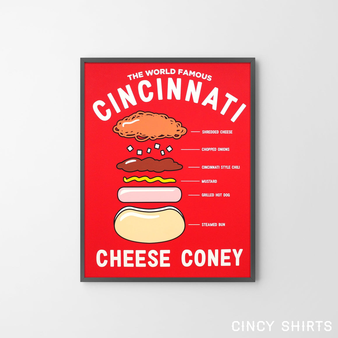 Anatomy of a Cheese Coney - Art Print