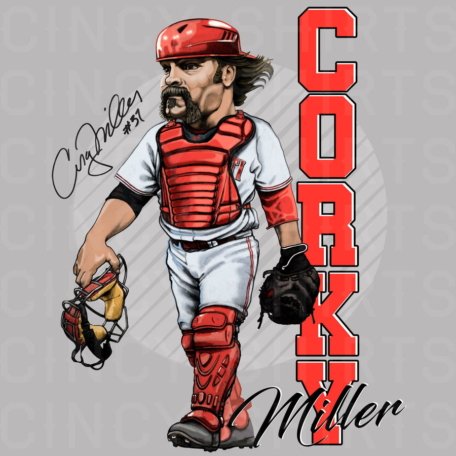 Corky Miller - Hall of Heroes - Cincy Shirts