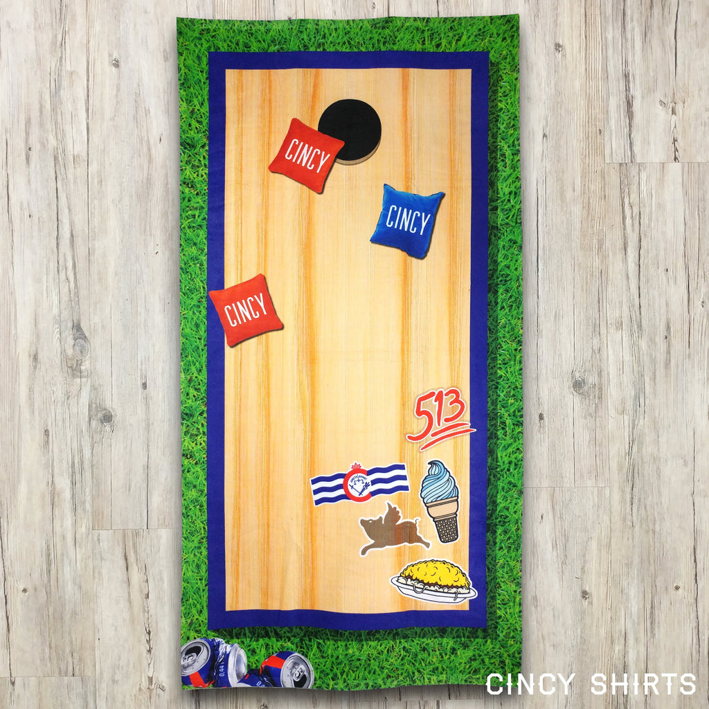 Cincy Cornhole - Beach Towel