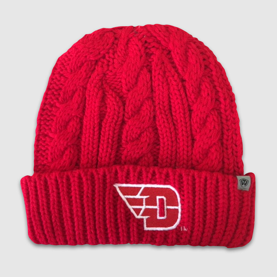 "Red Dayton University ""D"" Knit Beanie - Cincy Shirts"