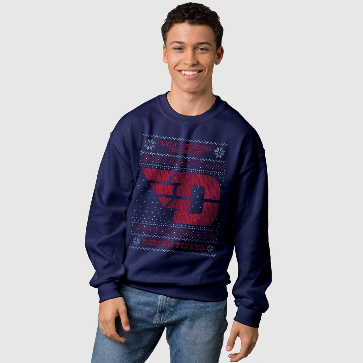 Dayton Flyers Ugly Christmas Sweatshirt