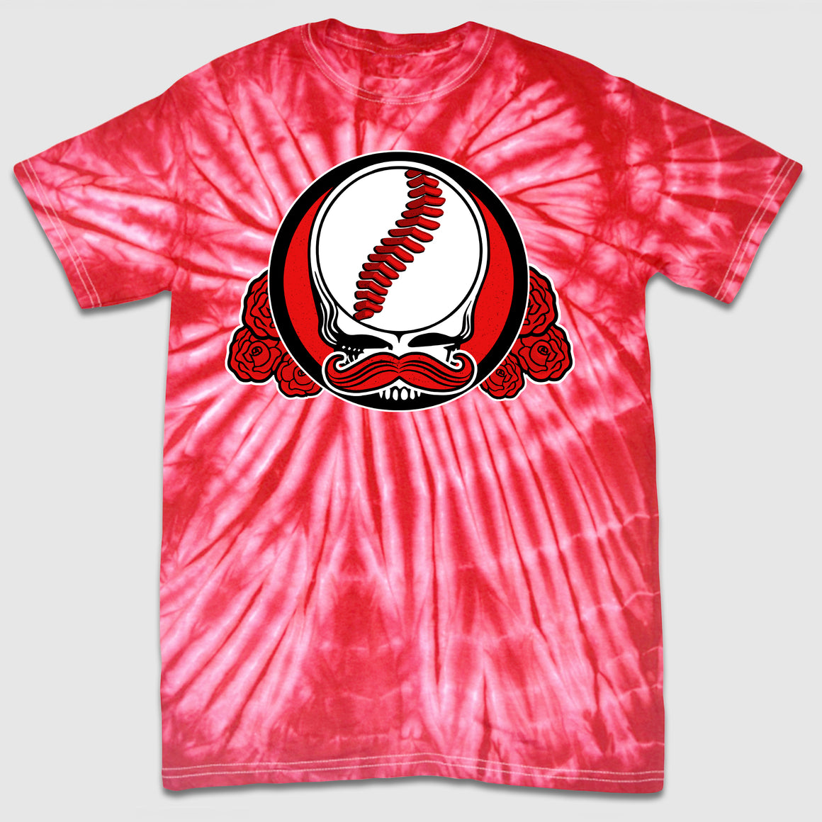Mr. Dead Red - Cincy Baseball Tie-Dye Tee - Cincy Shirts