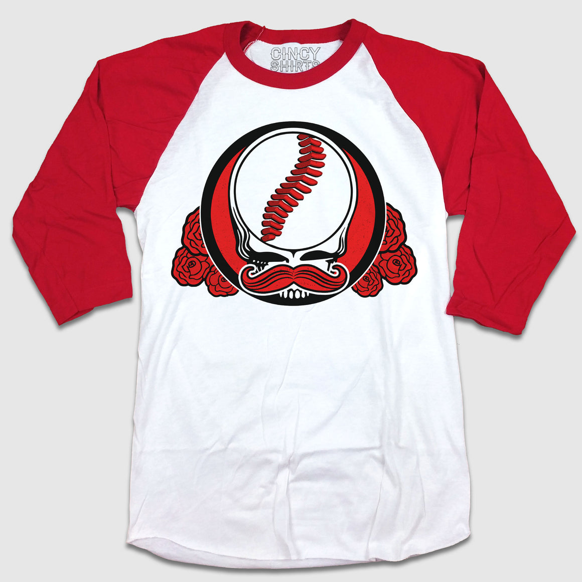 Mr. Dead Red - Grateful Dead Cincy Baseball raglan red