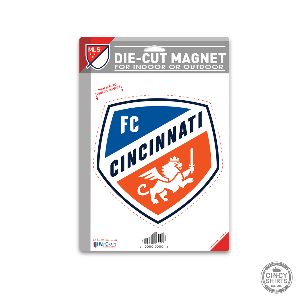 Official FC Cincinnati Crest Logo Magnet - Cincy Shirts