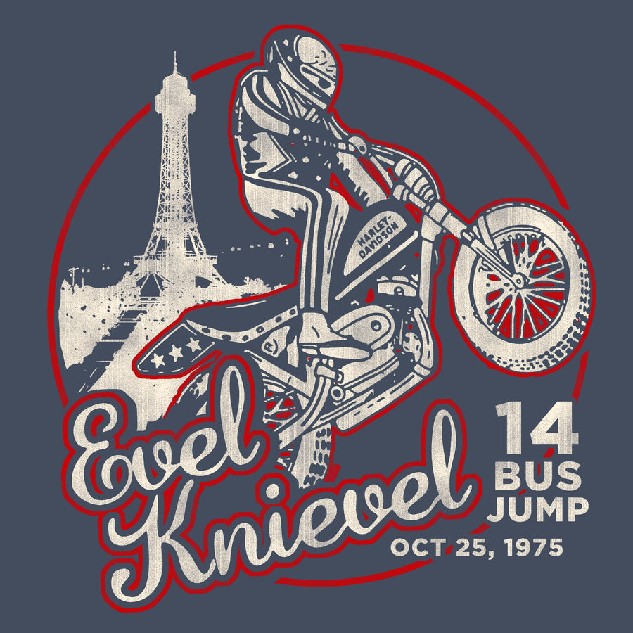 Evel Knievel 14 Bus Jump
