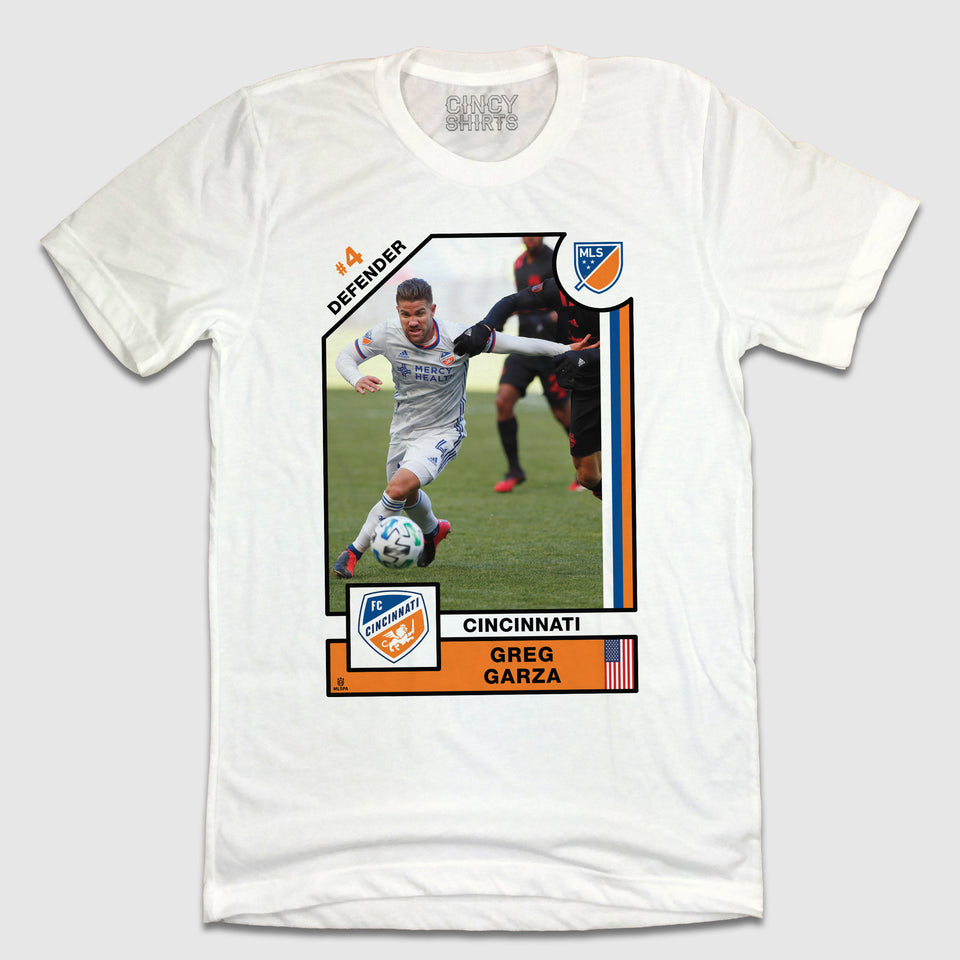 Official Greg Garza Player Card Tee - Cincy Shirts