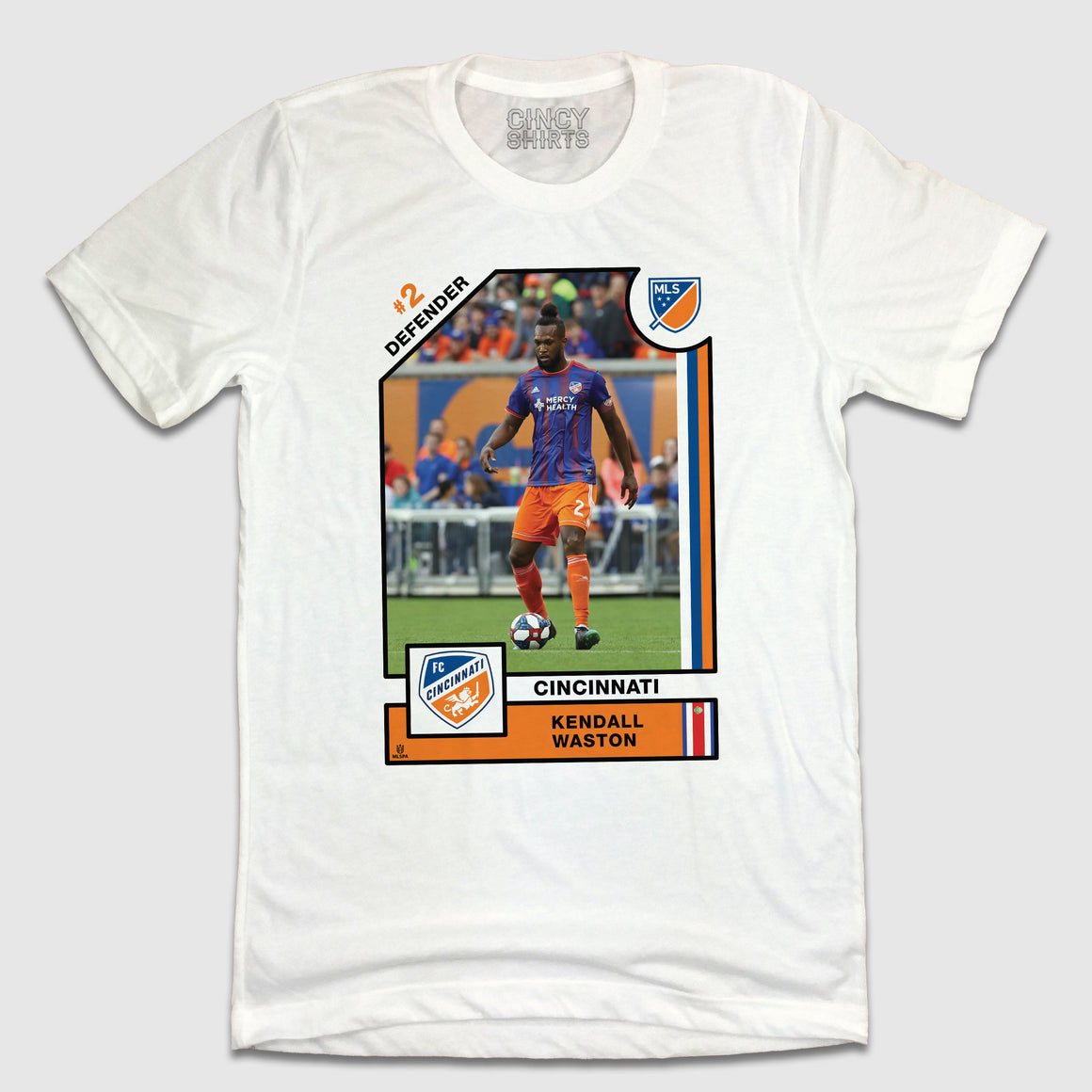 Official Kendall Waston Player Card Tee - Cincy Shirts