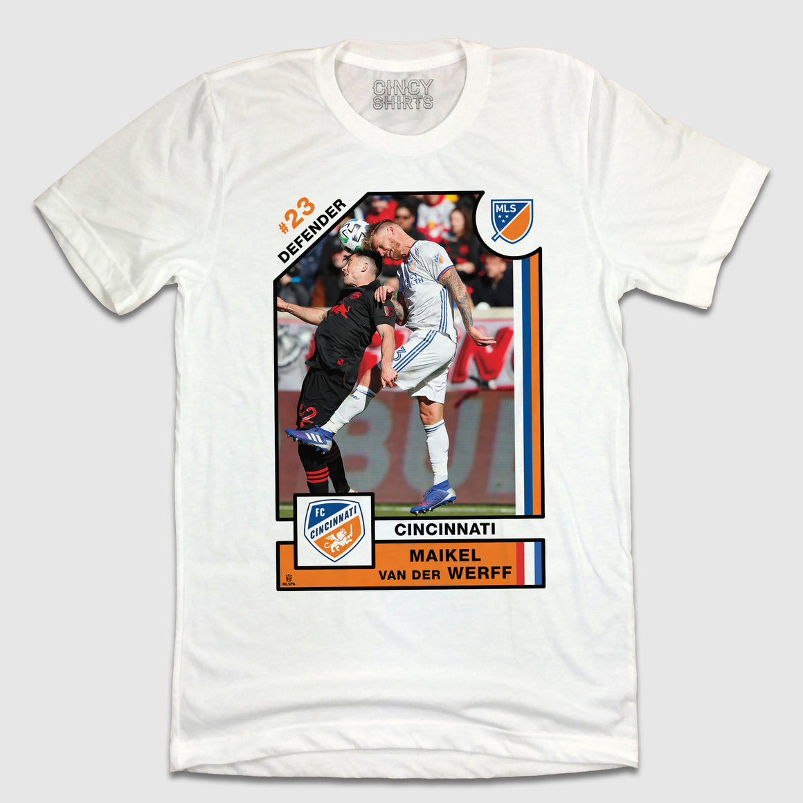 Offiical Maikel Van Der Werff Player Card Tee - Cincy Shirts