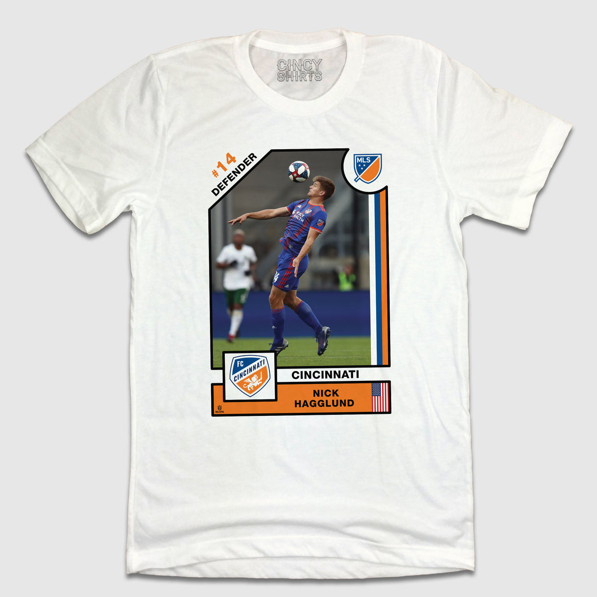 Official Nick Hagglund Player Card Tee - Cincy Shirts