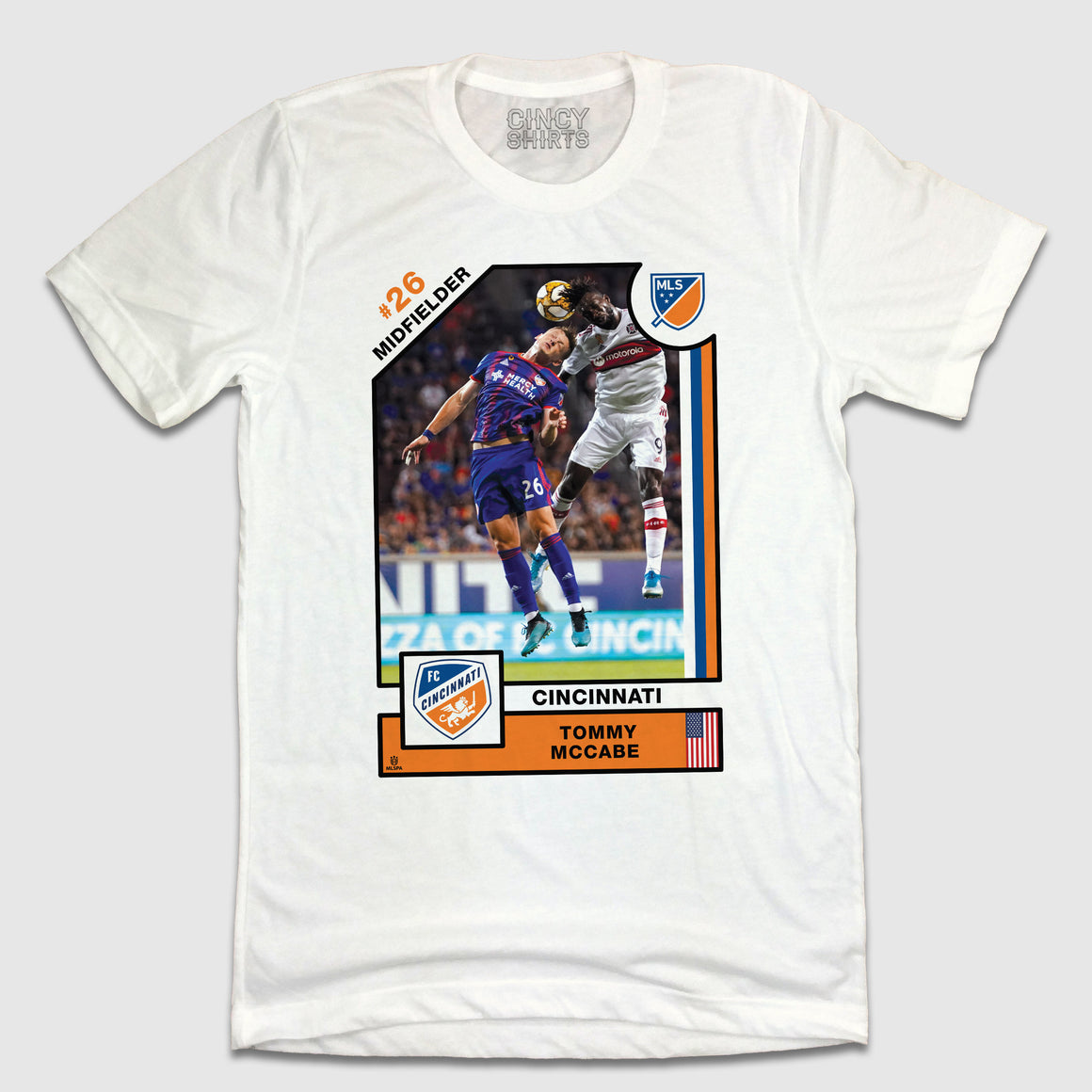 Offiical Tommy McCabe Player Card Tee - Cincy Shirts