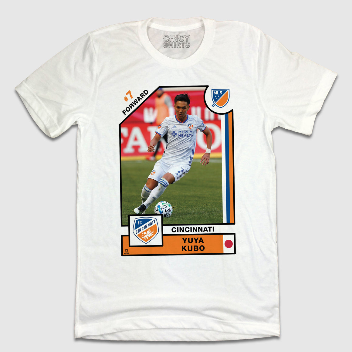 Official Yuya Kubo Player Card Tee - Cincy Shirts